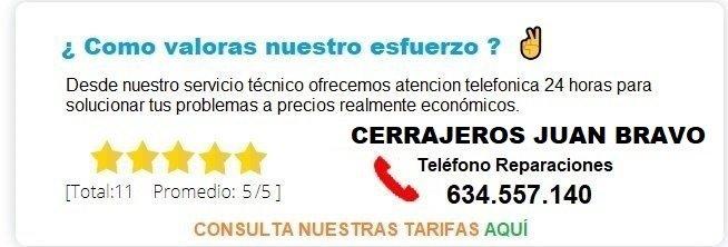 cerrajeros Juan Bravo precios